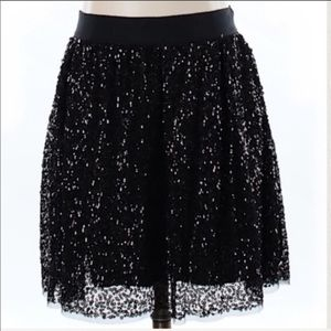 J. Crew sequined Starry Night mesh sequin skirt